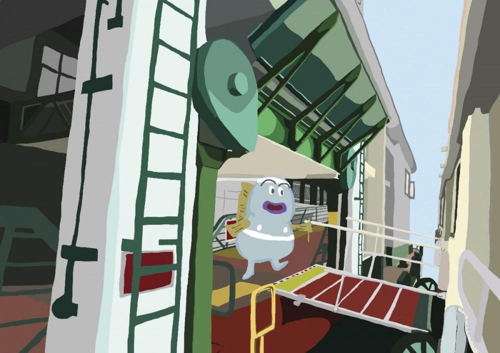 我為灣仔天星製了一幅漫畫,因為新碼頭不會有這種實而不華的質感