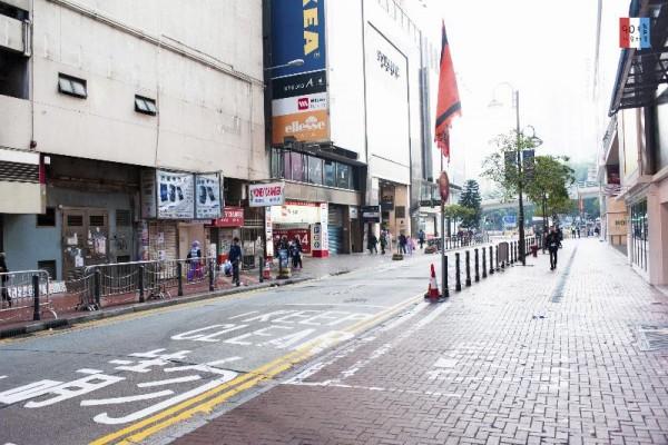 平時十分多人,到了年初一終可以見到安靜,像香港的銅鑼灣